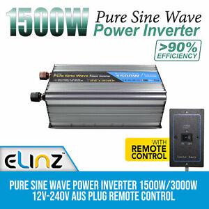 Pure-Sine-Wave-Power-Inverter-1500W-3000W-12V-240V-AUS-Plug-Remote-Control
