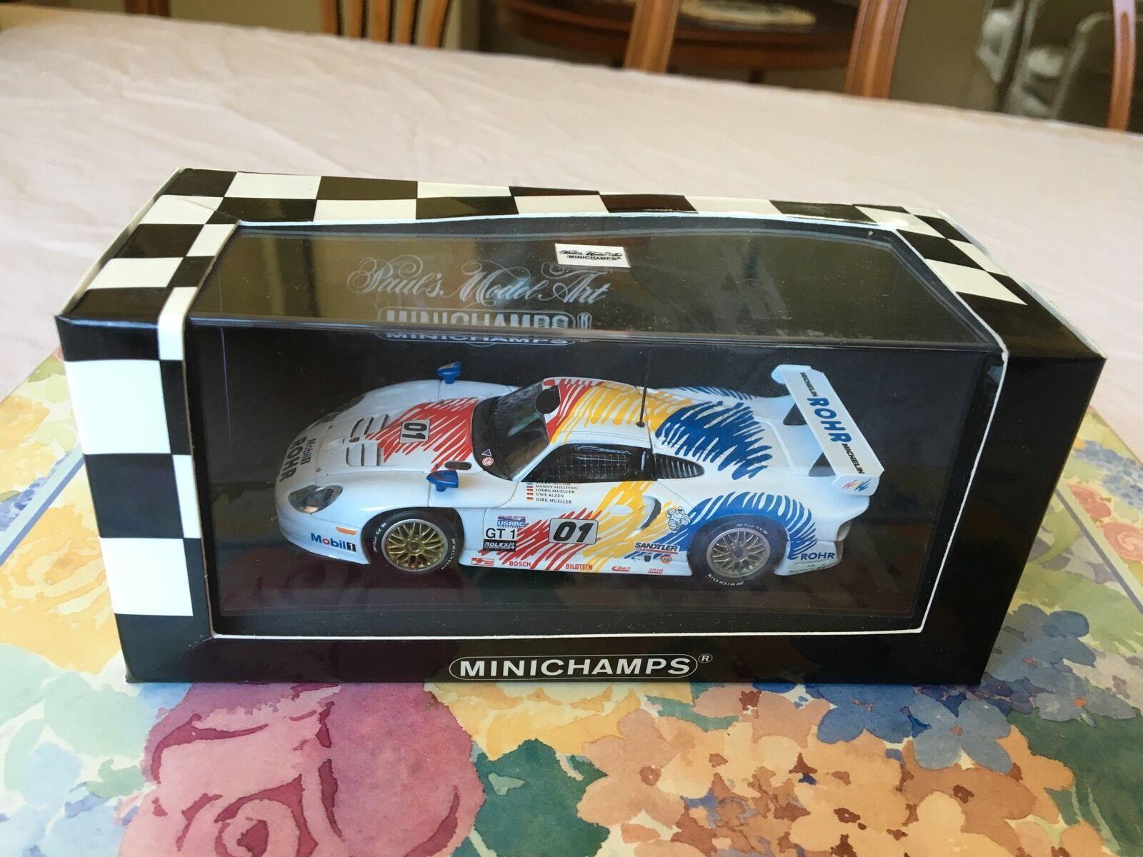 Minichamps Porsche 911 GT1, 2nd Daytona 1998. Team Rohr in 1 43 scale diecast