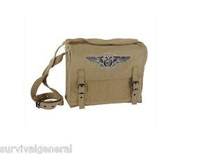 Image Is Loading Medic Canvas Shoulder Bag Military Style Tan Desert