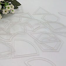 54pcs Acrylic Quilt Quilting Template Ruler DIY Tool for Patchwork Craft