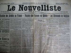 WW1-the-Germans-in-Belgium-Chronicle-the-Nouvelliste-of-Lyon-2-9-1914