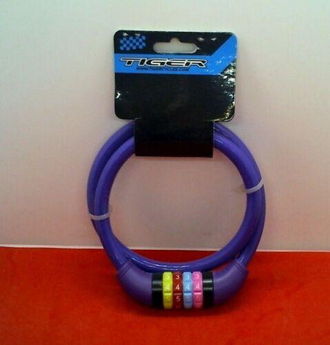 PURPLE Tiger Combination Bike Lock