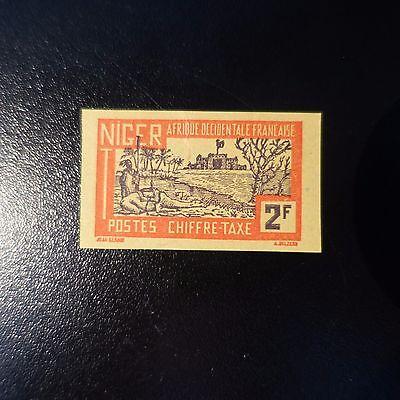Offen Frankreich Kolonie Niger Steuer Nr.20 Nicht Gezahnt Imperf Ohne Gummierung