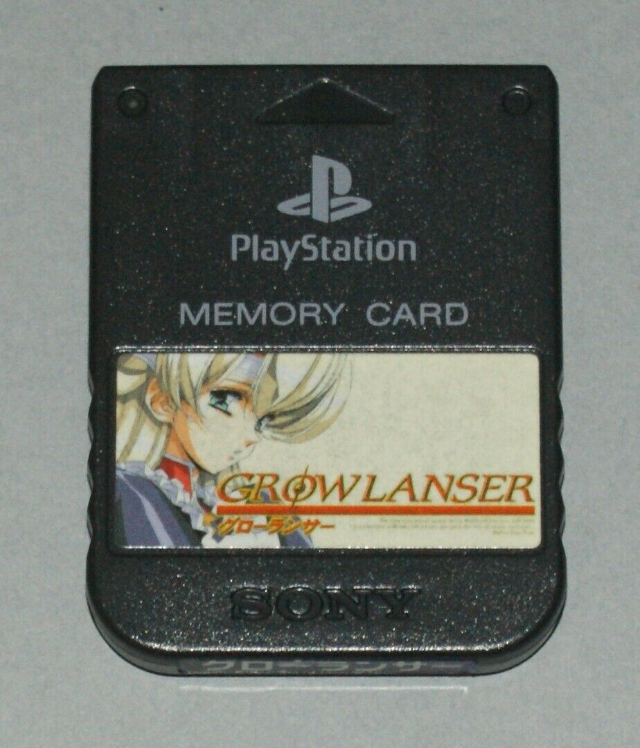 Solid Black Official PS1 Memory Card - Sony PlayStation One Tested SCPH-1020 #1