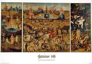 Image Is Loading Hieronymus Bosch Garden Of Earthly Delights C 1500