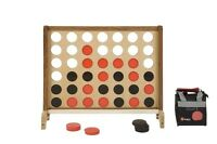 New Giant Wooden 4 Connect 4 In A Row Giant 4 Garden Game Outdoor Games BBQ Fun