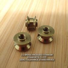 Zero Tolerance ZT0550 ZT 550 0550 Knife BRASS Anodized Titanium Ti Standoffs Set