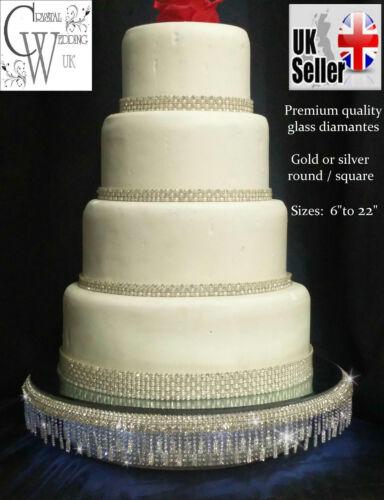 Diamante cake stand for wedding cake tassel design   Real diamante crystals+LED