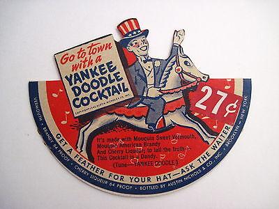 """Whisky Yankee Doodle Auf Vintage Anzeige Für """" Austin Nichols """" Weinbrand & Likör Mit Reklame & Werbung"""