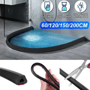 Schwarz Silikon Dusche Wasserstopper Stopp Streifen Boden Abdichtun Badezimmer