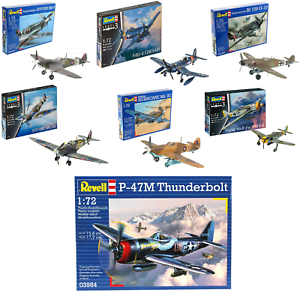 Revell-Model-Kits-WW2-Aircraft-Military-Planes-British-German-USA-Craft-Kit-1-72