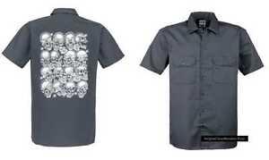 Worker maglietta con un tatuaggio//gothikmotiv modello modello Bad to the Bone