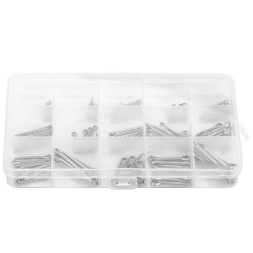 150pcs//set M1-M3 15 Kinds of Stainless Steel Split-Cotter Pins Assortment Kit