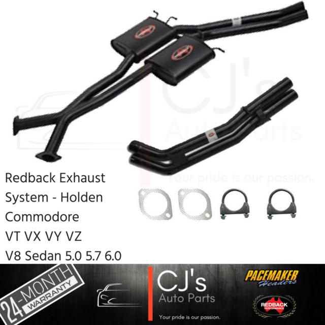 """Holden VT VX VY VZ V8 5.0 5.7 6.0 SS HSV Sedan Twin 2.5"""" Redback Exhaust Bolt On"""