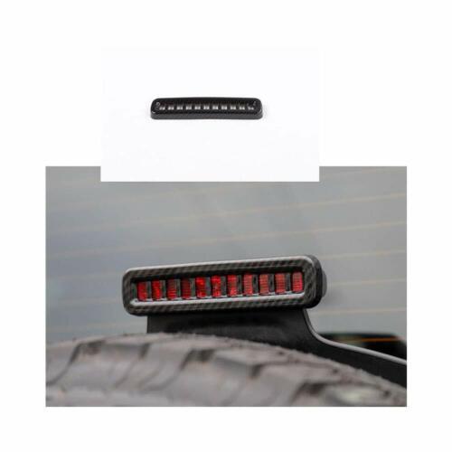 Carbon Fiber Car ABS High Third Brake Light Cover Trim for Jeep Wrangler JL 2018