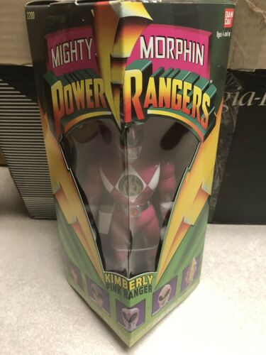 "Bandai Mighty Morphin Power Rangers 8/"" Kimberly Rose Ranger 1993 Triangle Box"