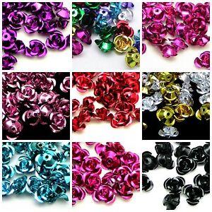 100pcs-Rose-Flower-Aluminum-Jewelry-Making-Spacer-Beads-6mm-For-Bracelet