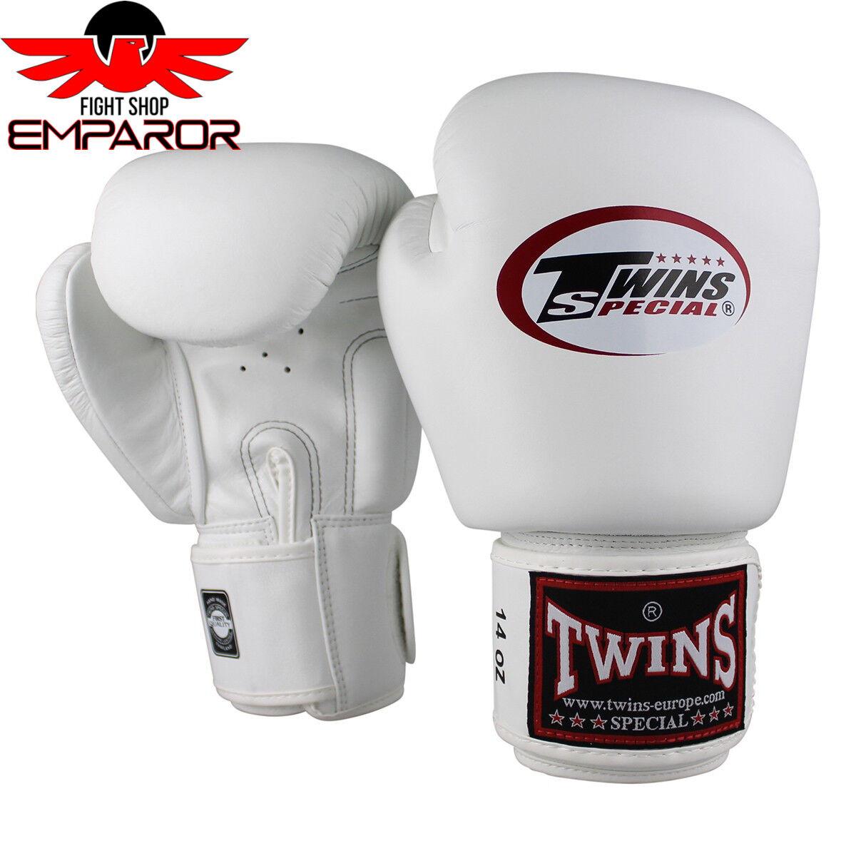 Twins Special Boxhandschuhe BGVL 3 Weiß Muay Thai Thai Thai Boxen Handschuhe 10-16oz Leder d9d52f