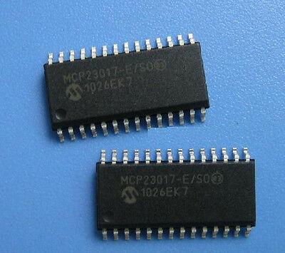 10 PCS MCP23017 MCP23017-E//SO IC I//O EXPANDER I2C 16Bit 28SOP NEW