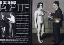 COUPURE DE PRESSE CLIPPING 1988 La passion selon RENE MAGRITTE 8 pages