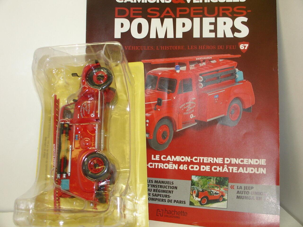 CAMIONS POMPIERS DROUVILLE -CITROEN 46 CD DE CHATEAUDUN N° 67