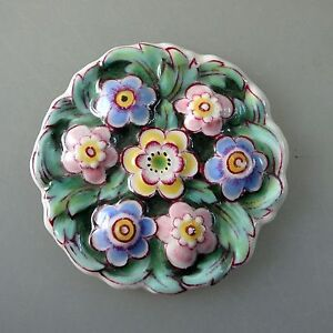 39563 Rosenthal Porzellan Plakette für Anhänger oder Broschen