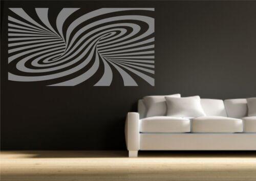 Abstracto Moderno ilusión pegatinas de pared arte mural calcomanía de transferencia de la plantilla de Vinilo