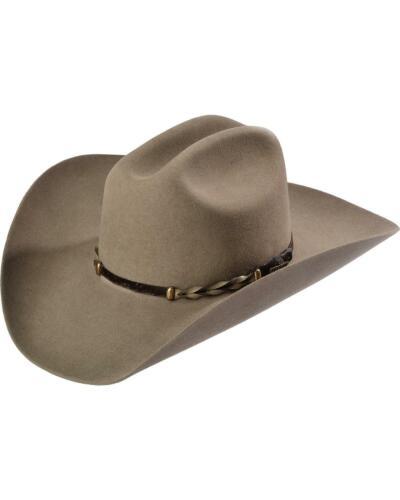SBPRTG-724220 Stone Stetson Stone Portage 4X Buffalo Felt Cowboy Hat