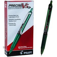 Pilot Precise V5 Rt Rolling Ball Pens 26065 Green Ink 05mm Ex Fine Box Of 12