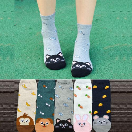 Calzini alla moda simpatici calze alla moda da donna con animali e gatti WQI