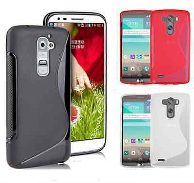 S-Line Soft Silicon Gel Case For Smart Phone LG G5 + Free Screen Protector