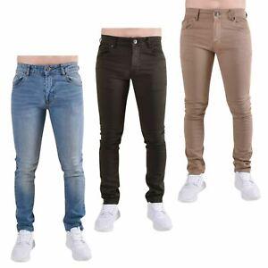 Lealtad-y-fe-para-hombre-Skinny-Jeans-Denim-Slim-Fit-Algodon-Elastizado-Pantalones-Pantalones