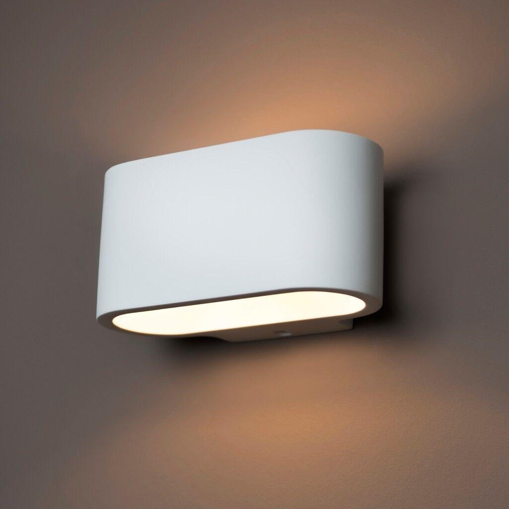 Gipsleuchte AL-GL8510 in Wandfarbe überstreichbar Wandleuchte Wandlampe Gipslamp   Ausgezeichneter Wert