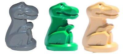 NEW Lego Lot//3 BABY T REX DINOSAUR Green Gray Tan Dino Animal Statues  5975 7783