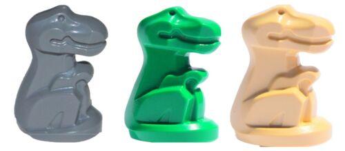 ☀️NEW Lego Lot//3 BABY T REX DINOSAUR Green Gray Tan Dino Animal Statues
