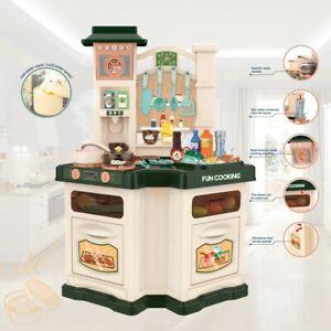 Kids Pretend Kitchen Play Set Cooking Playset Toy Kit Xmas Gift W/Water Boiling.