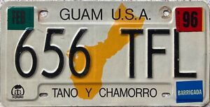Guam-USA-Territory-Tano-Y-Chamorro-Licence-License-Number-Plate-656-TFL
