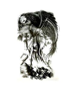 Grim Reaper Death Gothic Tattoo Waterproof Body Art Stickers Removable Lg Ebay