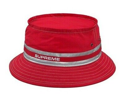 47dca0df5 Supreme Contrast Stitch Crusher Bucket Hat Size M/L Red SS19H95 ...