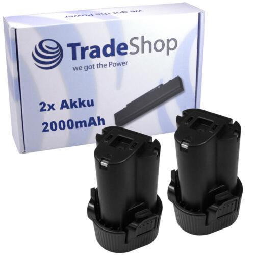 2x Li-Ion Akku 10,8V 2000mAh für Makita UM164DWE UM164DWEXL UM164DZ