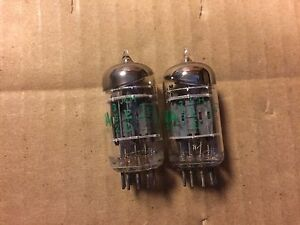 Matched-Pair-Sylvania-5751-Tubes-USA-Triple-Mica-1963-Tested-Low-but-working