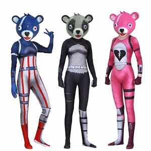 team leader pink cuddle bear new skin outfit cosplay costume