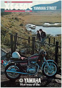 Yamaha Brochure Xs650 C Xs650c 1976 Red Uk Sales Catalog Catalogue Repro Ebay