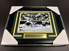 RICKEY HENDERSON Autographed 8x10 Photo vs. Thurman Munson Framed Steiner COA