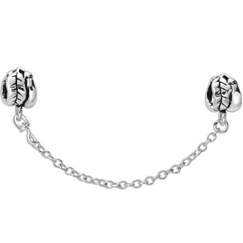 Hot SAFETY CHAIN charms bead fit fashion european 925 Silver Sterling bracelet