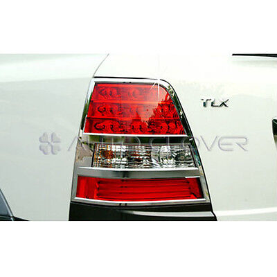 Chrome Tail Light Lamp Cover Molding Trim 2pc For 2007