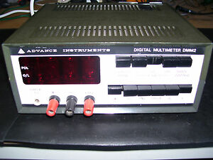 RARE-ADVANCE-INSTRUMENTS-NIXIE-TUBE-DIGITAL-MULTIMETER-DMM2-VGC