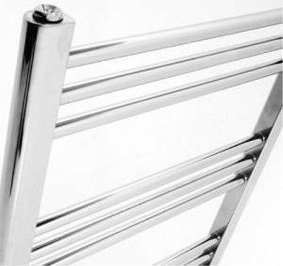 400mm Straight Chrome Heated Towel Rails   Radiators, 25mm