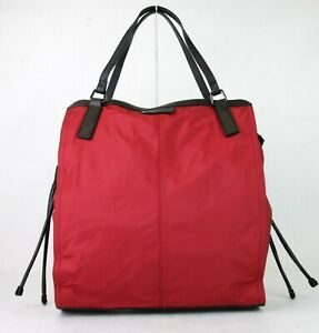 c914d6a06ddf Image is loading Burberry-Military-Red-Nylon-Packable-Small-Buckleleigh-Tote -