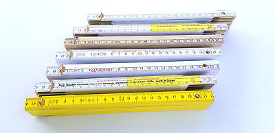 10 X Qualité zollstöcke 2 M Mètre meterstab mètres baguettes